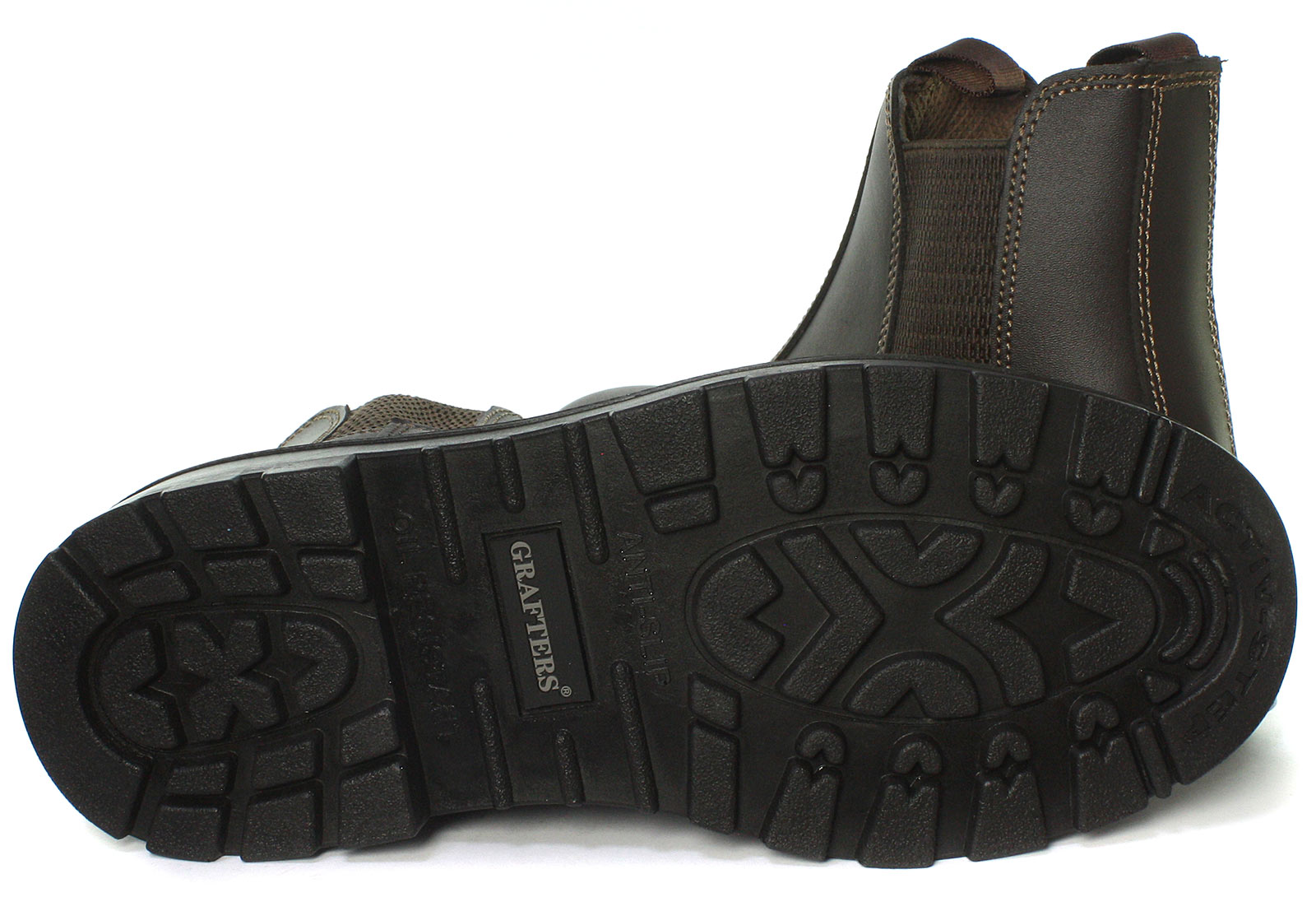 Grafters-Grinder-Twin-Gusset-Dealer-Mens-Safety-Boots-ALL-SIZES-AND-COLOURS miniature 13