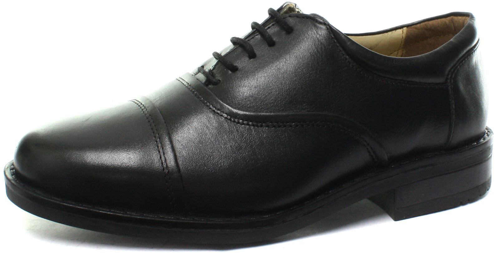Roamers-M827A-Blind-Eye-Flexi-Capped-Black-Mens-Oxford-Shoes-ALL-SIZES
