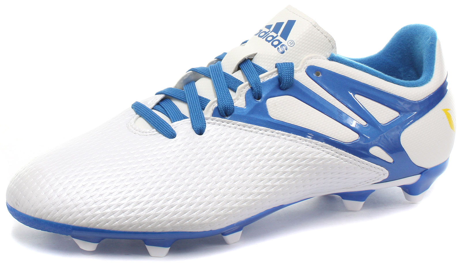 info for 93fc0 1d98b Image is loading adidas-Messi-15-3-FG-AG-White-Junior-