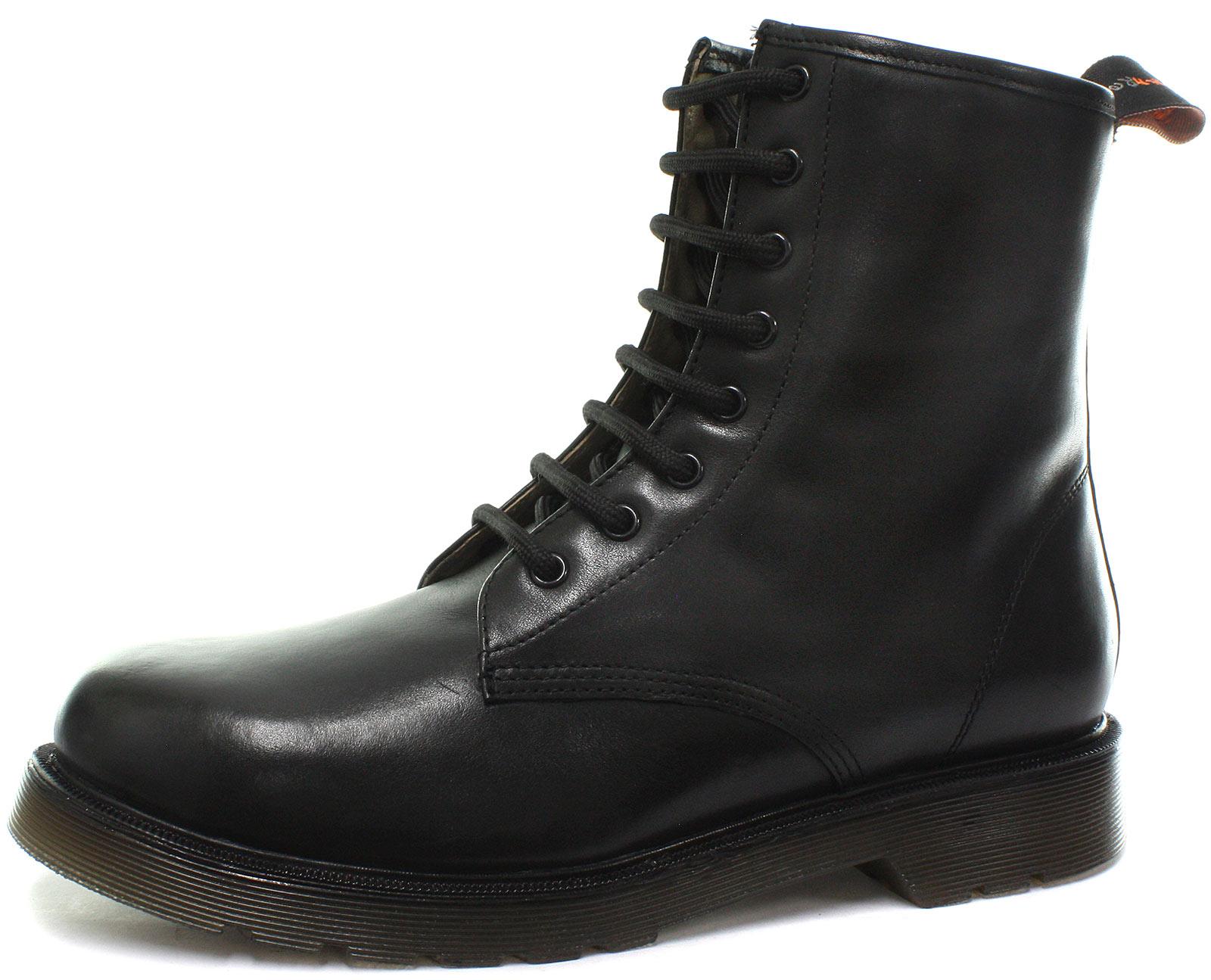 NEU tredflex 8 Öse schwarz Unisex Derby Stiefel alle Größen