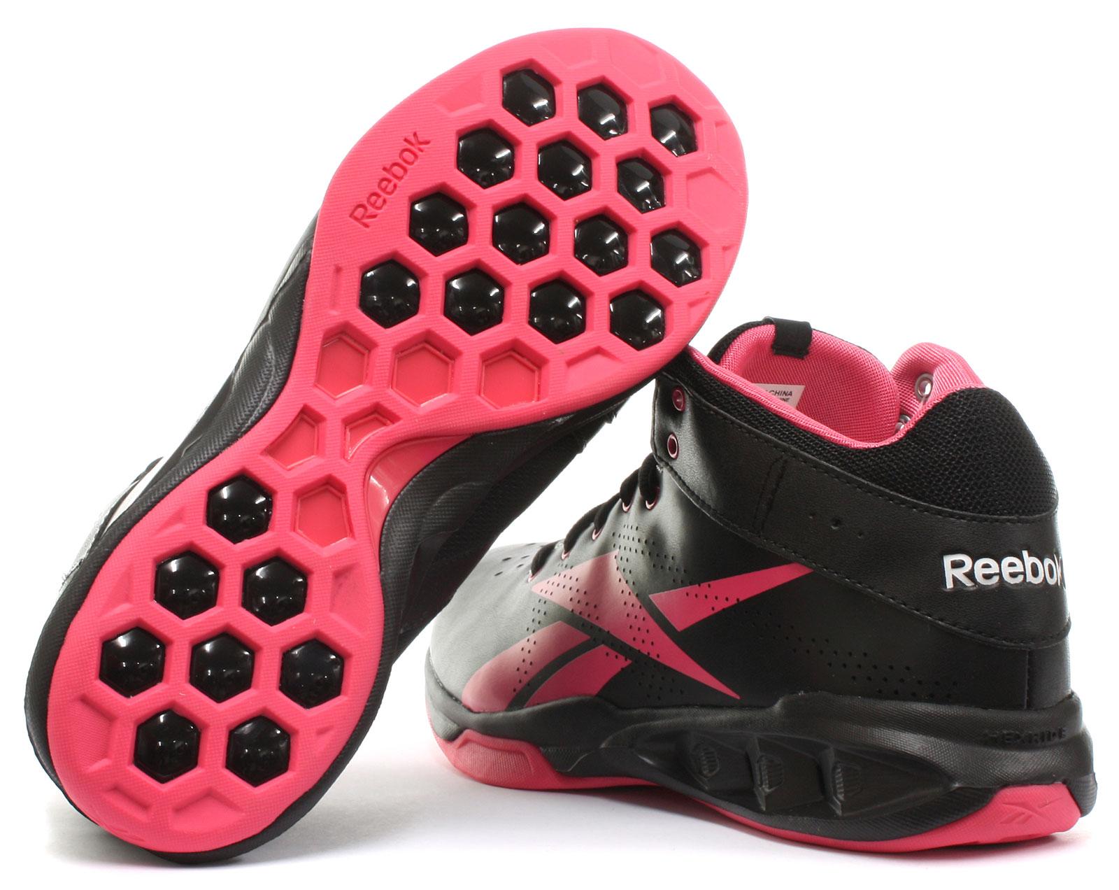 3bb2f97cbd7 Reebok Ladies Black Hexride Intensity Mid Trainer BOOTS Size EU 35.5 ...