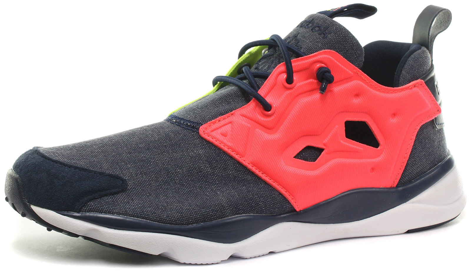 96bc2291d57 Image is loading Reebok-Classic-Furylite -Asymmetrical-Navy-Womens-Trainers-ALL-