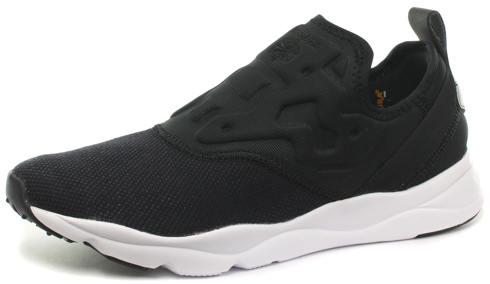 2a1eb9d8b51d Image is loading Reebok-Classic-Furylite-Slip-Contemporary-Blk-Womens- Trainers-