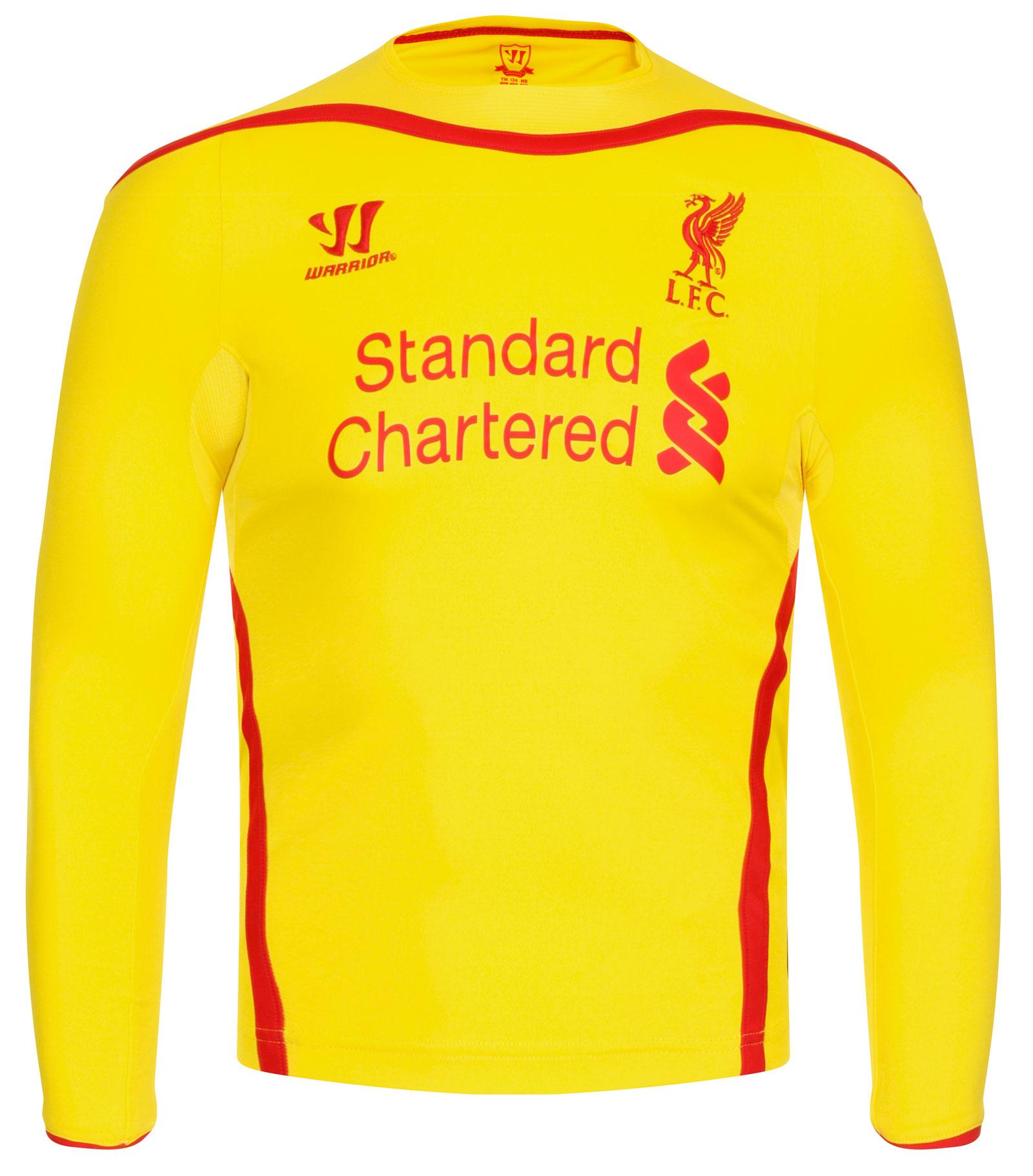 the best attitude 67cde feedd Details about Warrior Liverpool LFC 2014/15 Away Junior Long Sleeve Shirt  Size XL