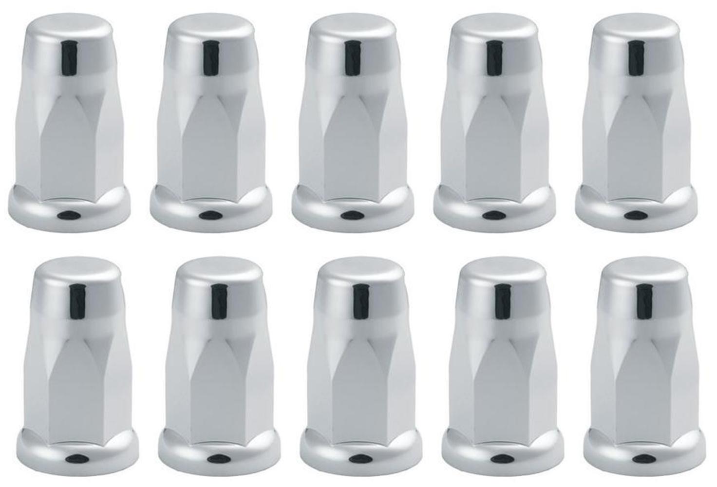 60 Chrome ABS Plastic Lug Nuts Top Hat Shape for 3//4 Lug Nuts
