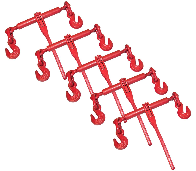 "5 Ratchet Chain Load Binder 3/8"" -1/2"""