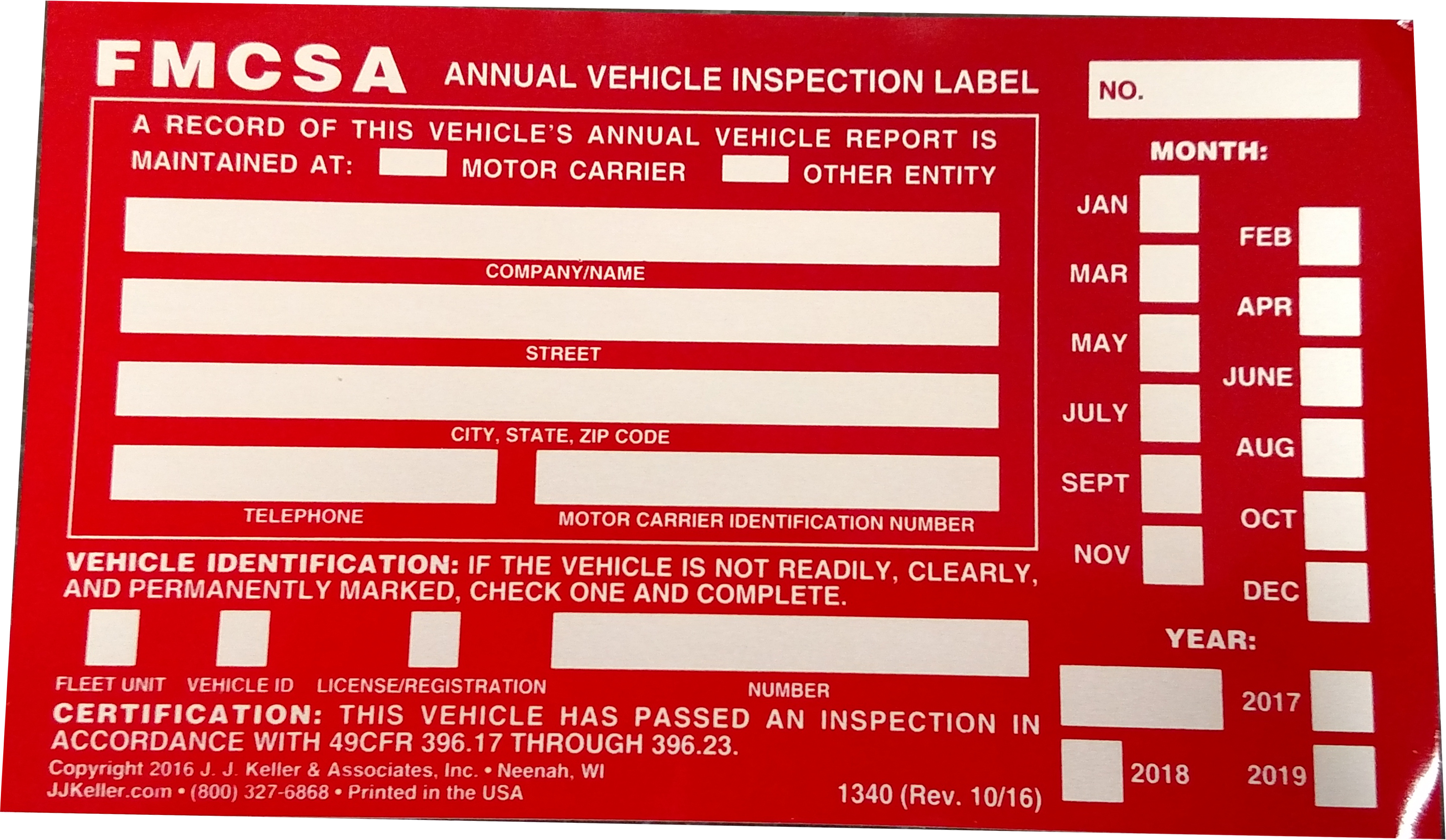Details about 100 Annual Vehicle Inspection Stickers