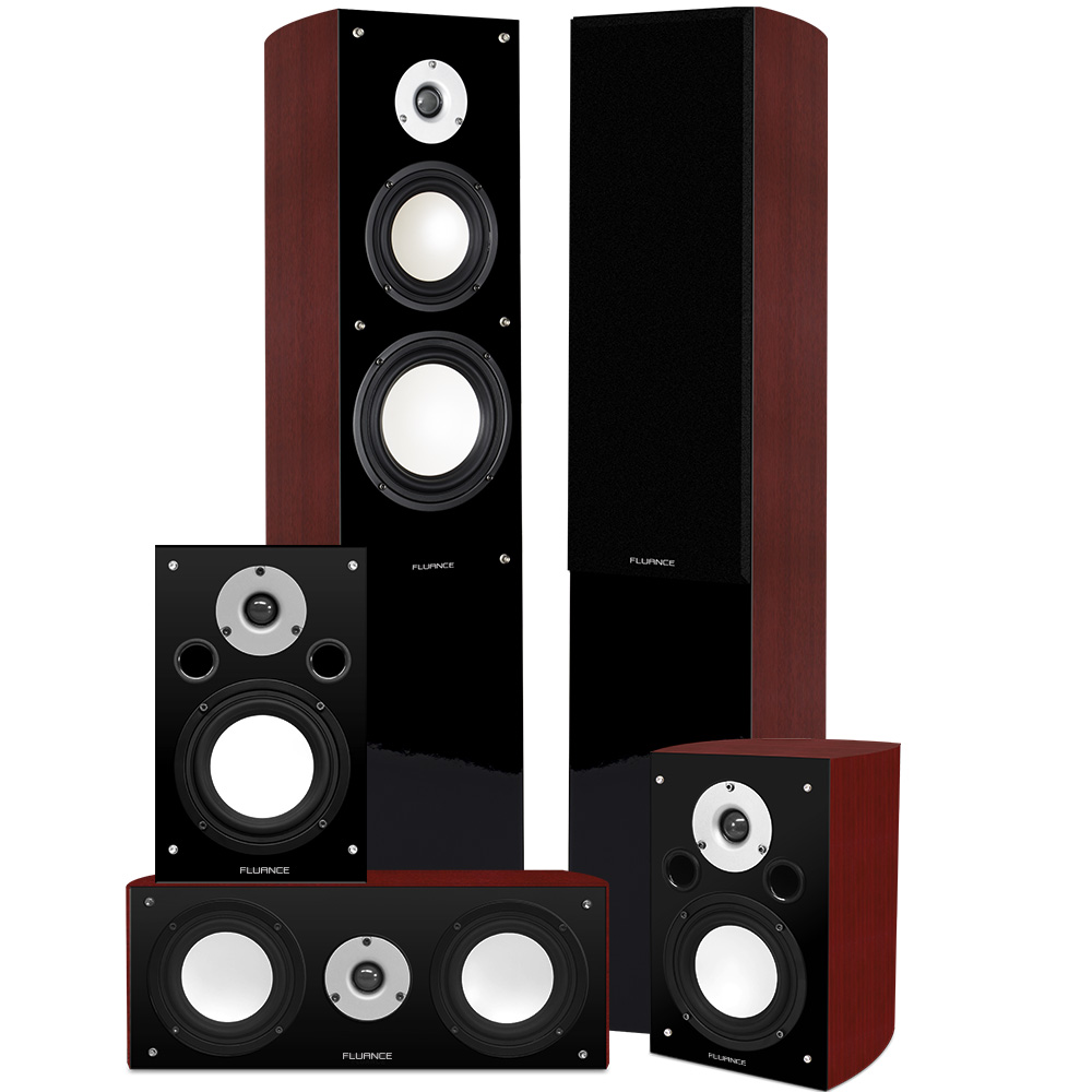 fluance xl5htb high performance 5 0 surround sound home. Black Bedroom Furniture Sets. Home Design Ideas