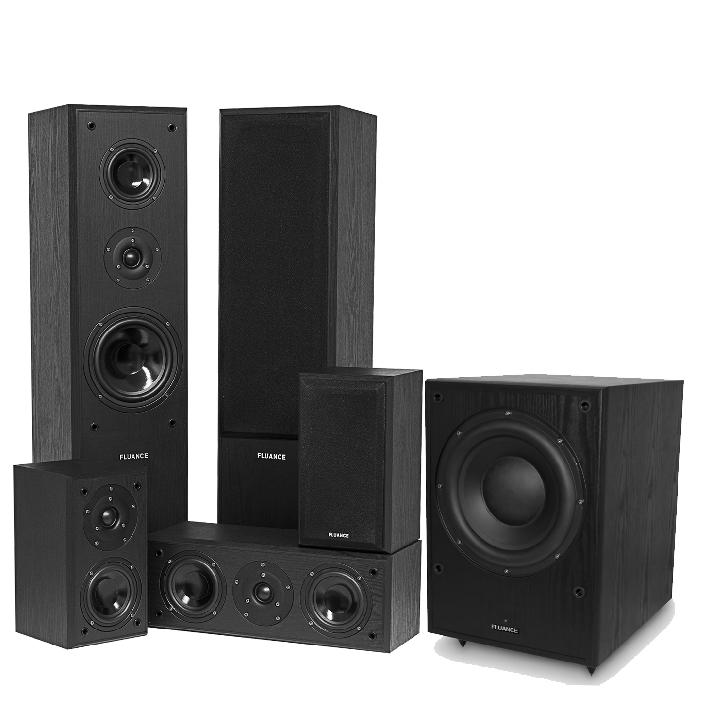fluance av series surround sound theater speaker system. Black Bedroom Furniture Sets. Home Design Ideas
