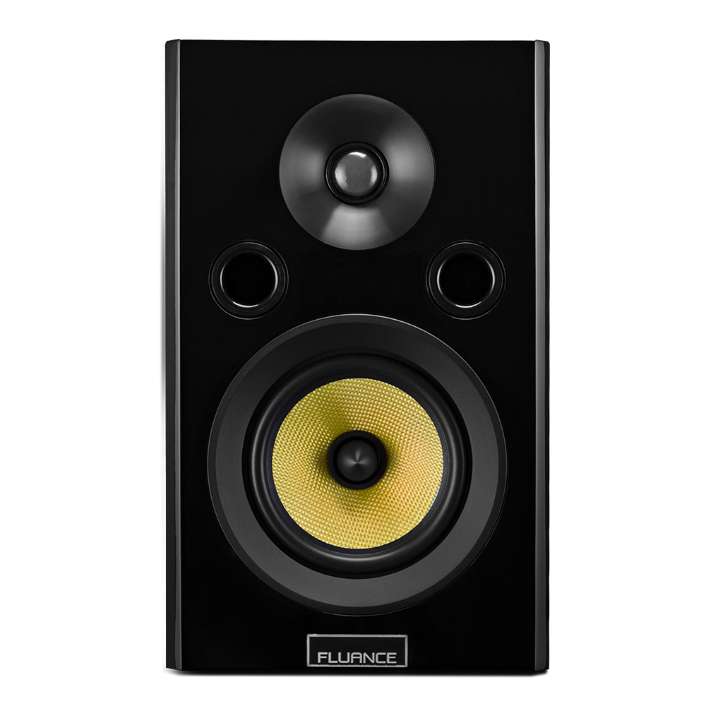 Fluance Signature Series HiFi Two Way Bookshelf Surround Sound Speakers For Home Theater And Music Systems HFS