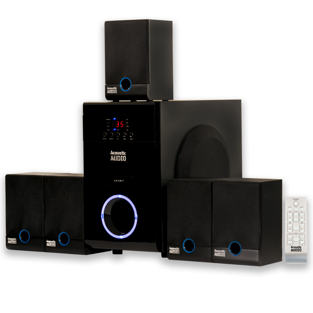 acoustic audio aa5817 home theater 5 1 speaker system. Black Bedroom Furniture Sets. Home Design Ideas