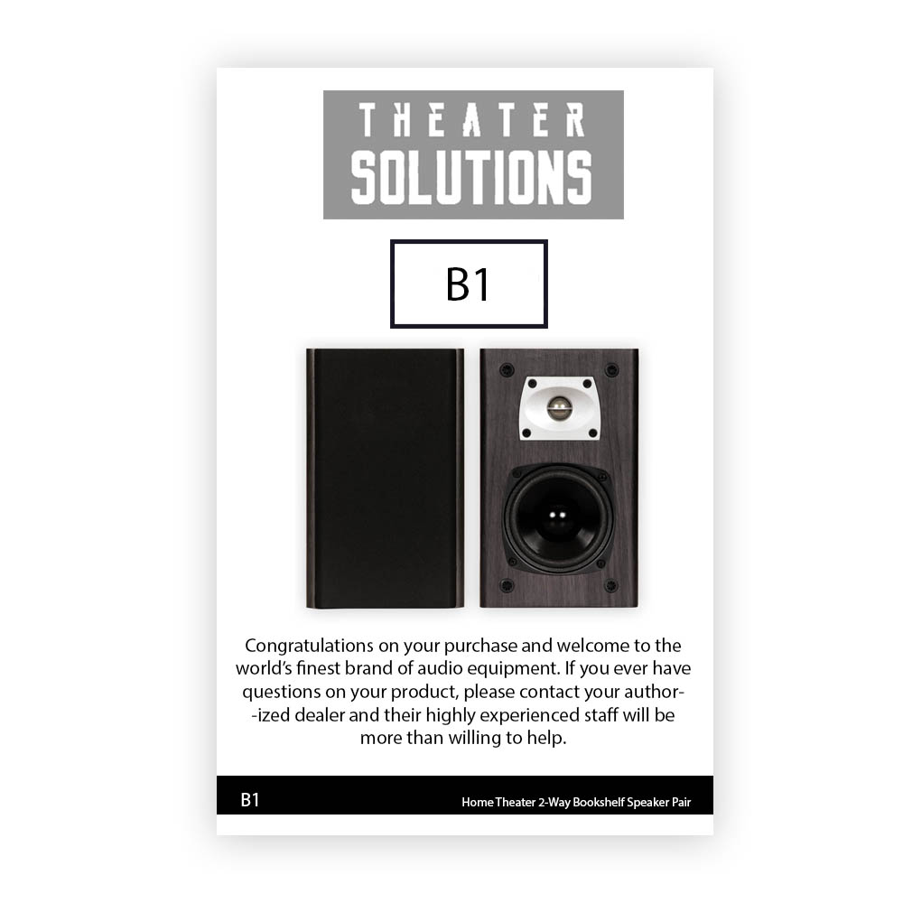 Theater Solutions B1 Black Bookshelf Speakers Surround Home Speaker Wiring For Your Along With Page 5 Of Nht 2 Pair Pack