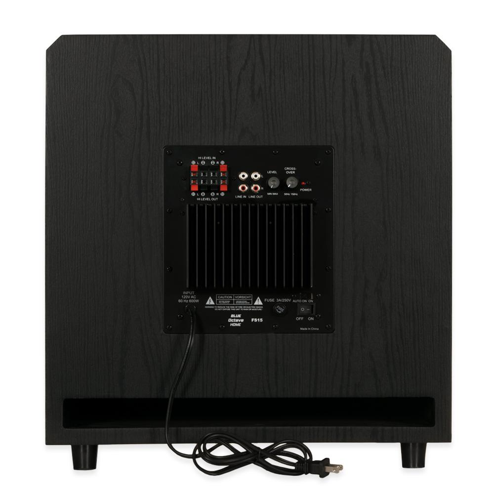 blue octave fs15 powered 15 subwoofer home theater front firing sub ebay. Black Bedroom Furniture Sets. Home Design Ideas
