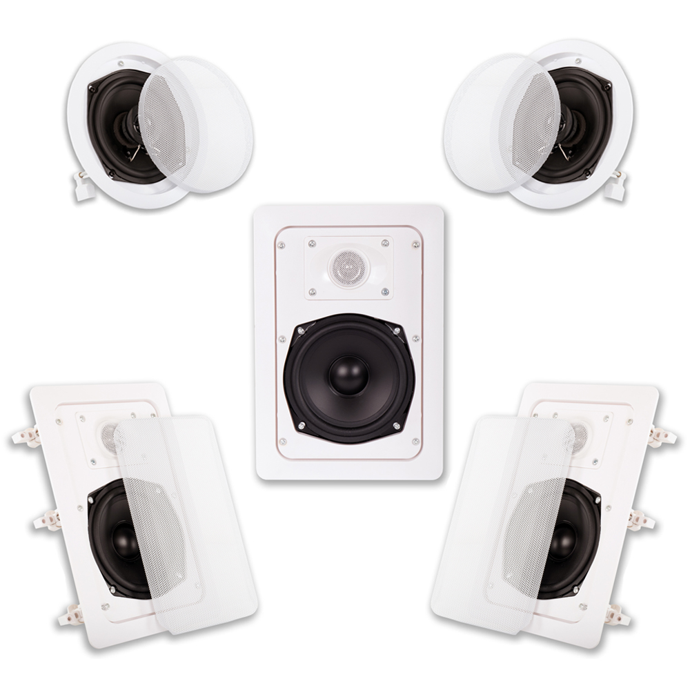 Acoustic Audio HT-55 In Wall In Ceiling 1000 Watt Home
