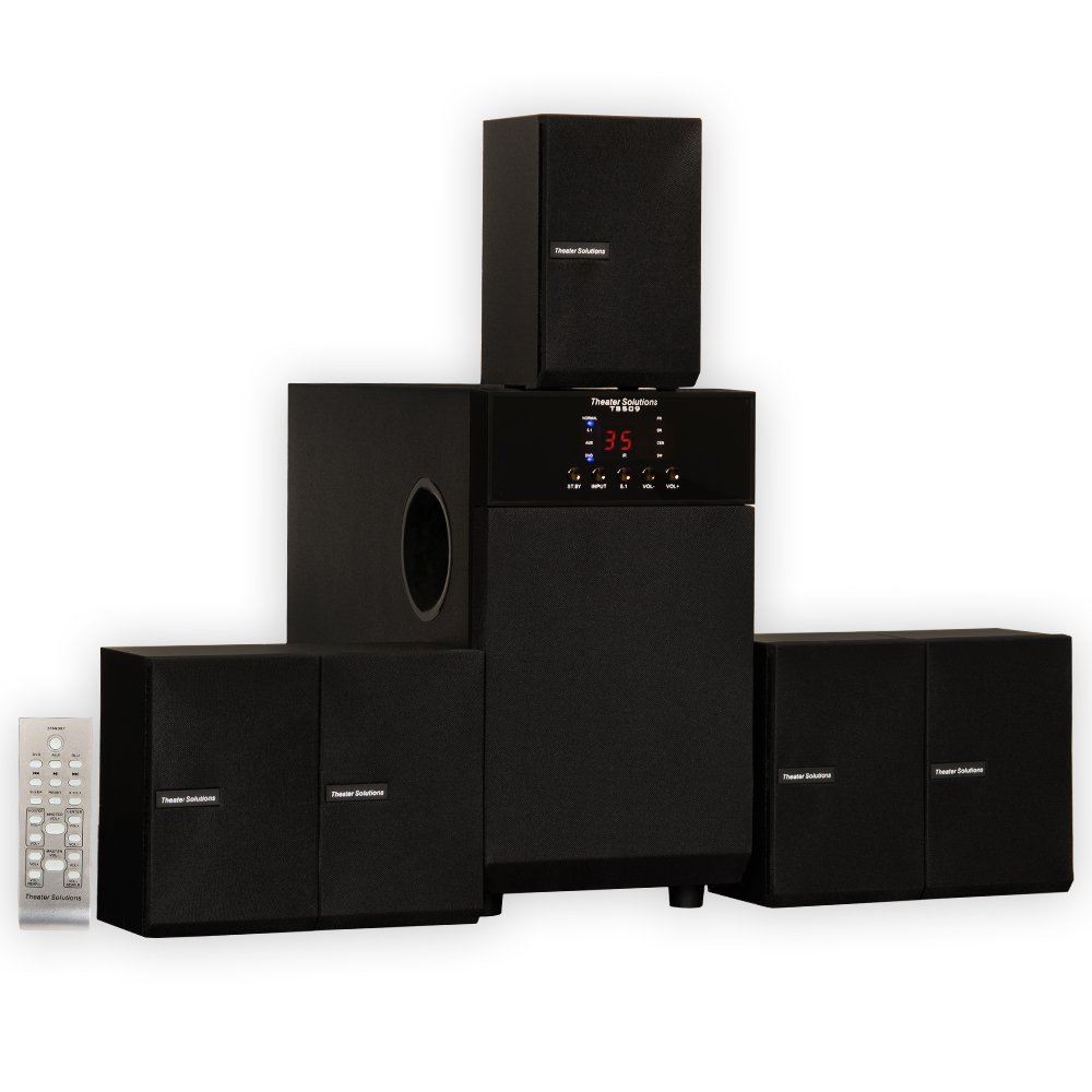 theater solutions ts509 home theater 5 1 speaker system. Black Bedroom Furniture Sets. Home Design Ideas