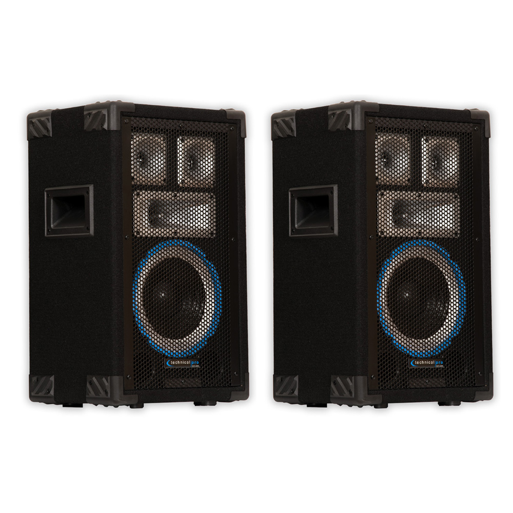 pro technical dj passive studio speaker pa karaoke pair systems speakers audio watts 1200 enlarge