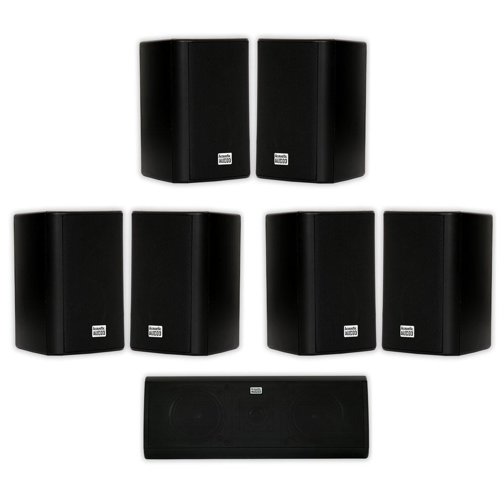 Black Acoustic Audio AA351B Indoor//Outdoor Speakers Set of 2