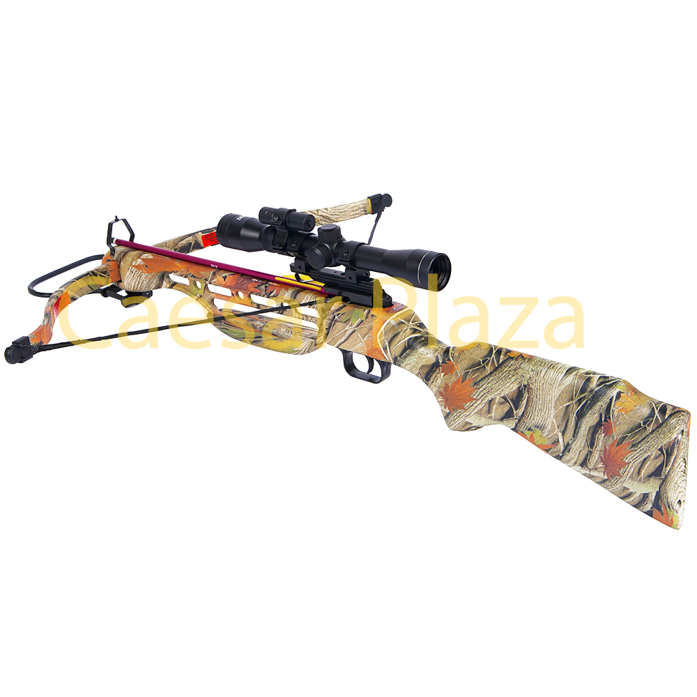 150-lb-Black-Wood-Camo-Hunting-Crossbow-Bow-4x20-Scope-7-Arrows-180-80-50 thumbnail 9