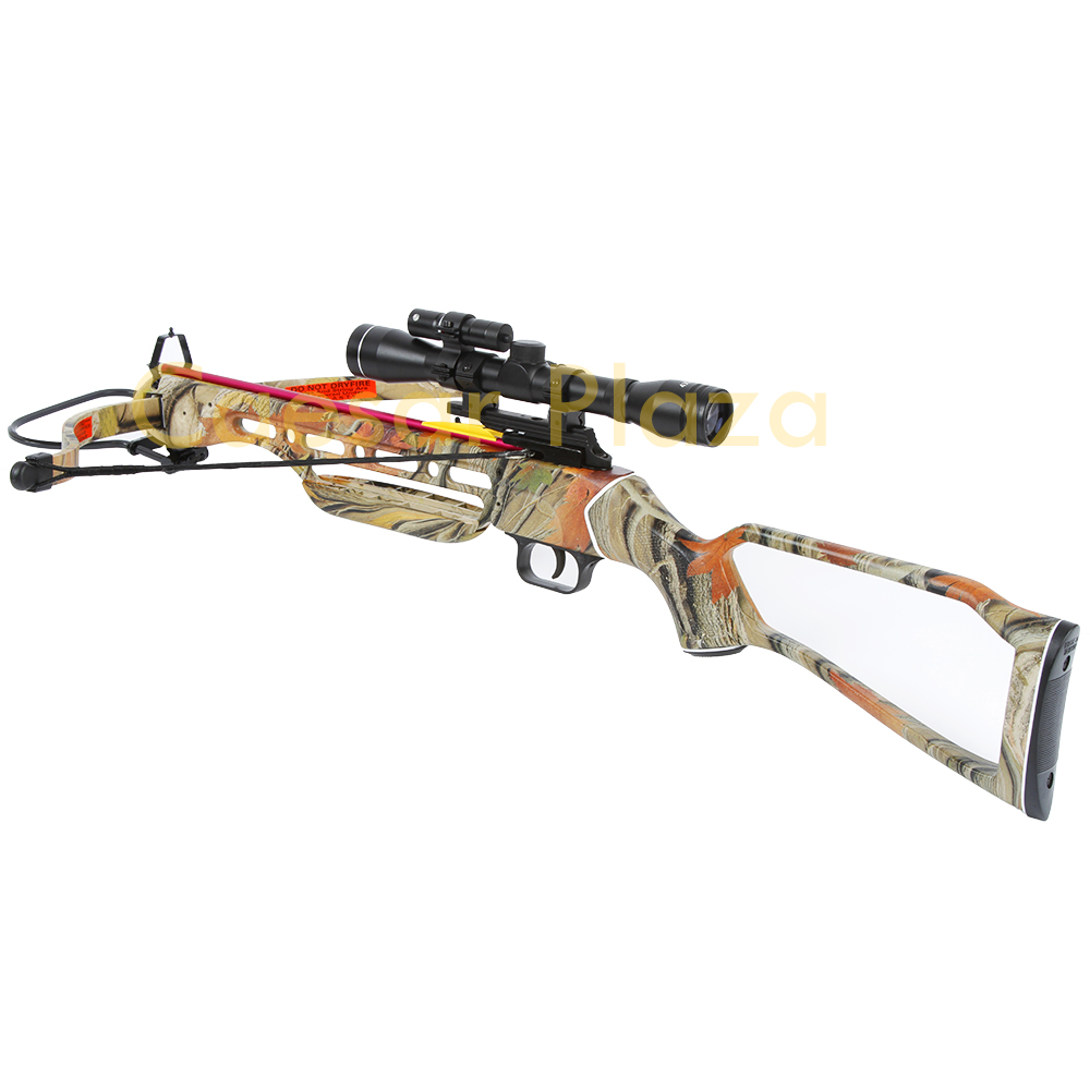 150-lb-Black-Wood-Camo-Hunting-Crossbow-Bow-4x20-Scope-7-Arrows-180-80-50 thumbnail 16