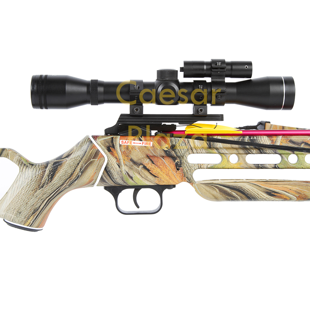 150-lb-Black-Wood-Camo-Hunting-Crossbow-Bow-4x20-Scope-7-Arrows-180-80-50 thumbnail 17