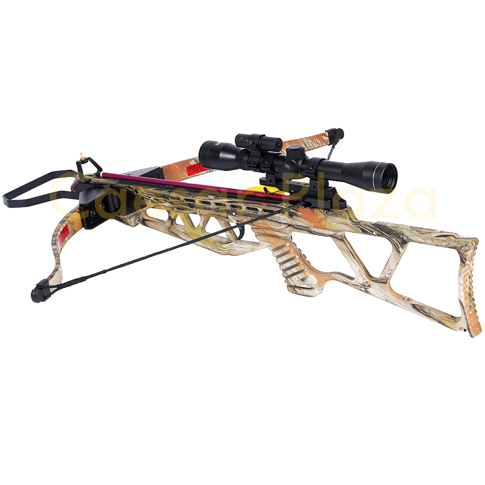 180-lb-Black-Camouflage-Camo-Hunting-Crossbow-Bow-4x20-Scope-7-Arrows-150-80 thumbnail 6