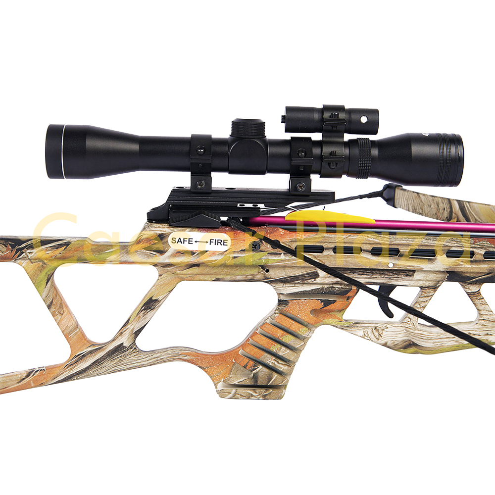 180-lb-Black-Camouflage-Camo-Hunting-Crossbow-Bow-4x20-Scope-7-Arrows-150-80 thumbnail 7