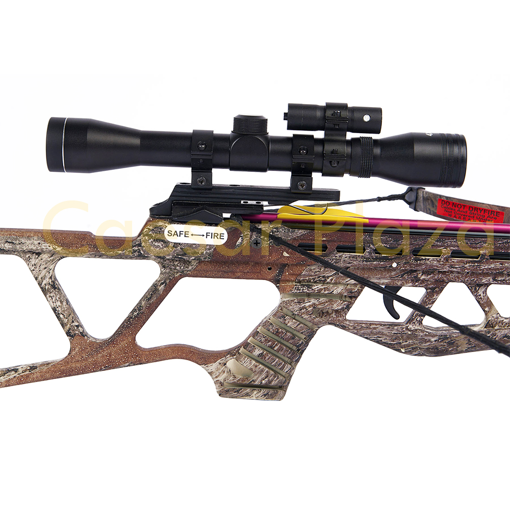180-lb-Black-Camouflage-Camo-Hunting-Crossbow-Bow-4x20-Scope-7-Arrows-150-80 thumbnail 21