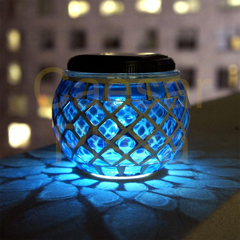 6 outdoor garden solar mosaic glass ball landscape path lights lamp picture 4 of 5 aloadofball Choice Image