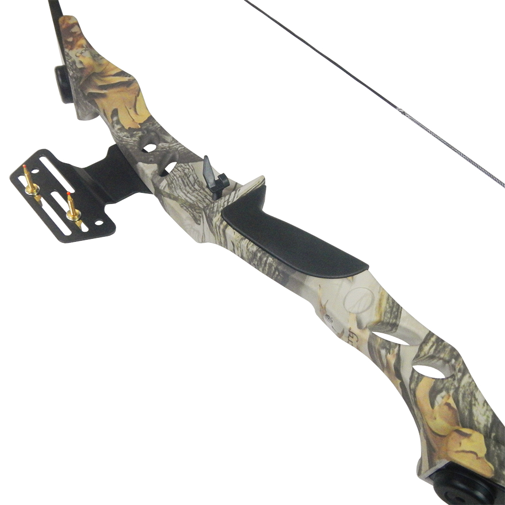 40-lb-Black-White-Camouflage-Camo-Archery-Hunting-Recurve-Bow-Compound-55-30 thumbnail 10