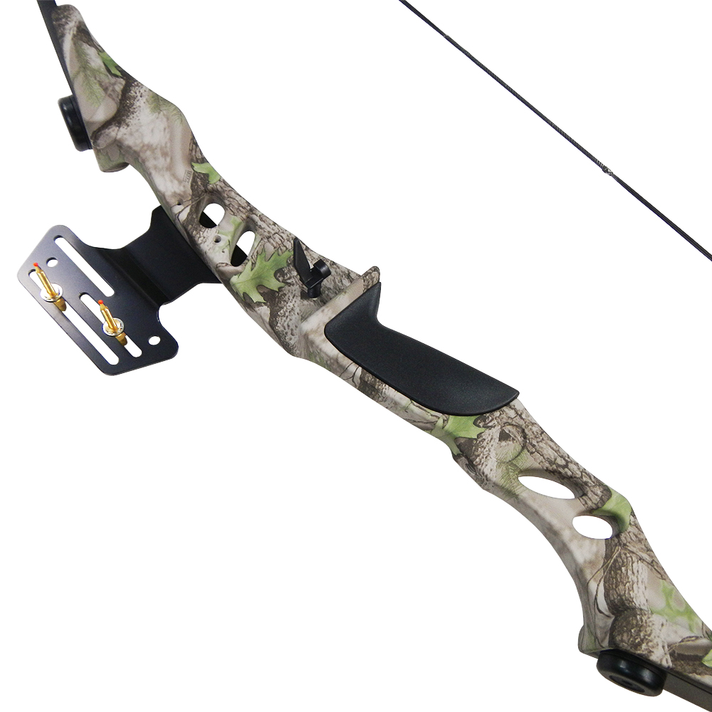 40-lb-Black-White-Camouflage-Camo-Archery-Hunting-Recurve-Bow-Compound-55-30 thumbnail 12