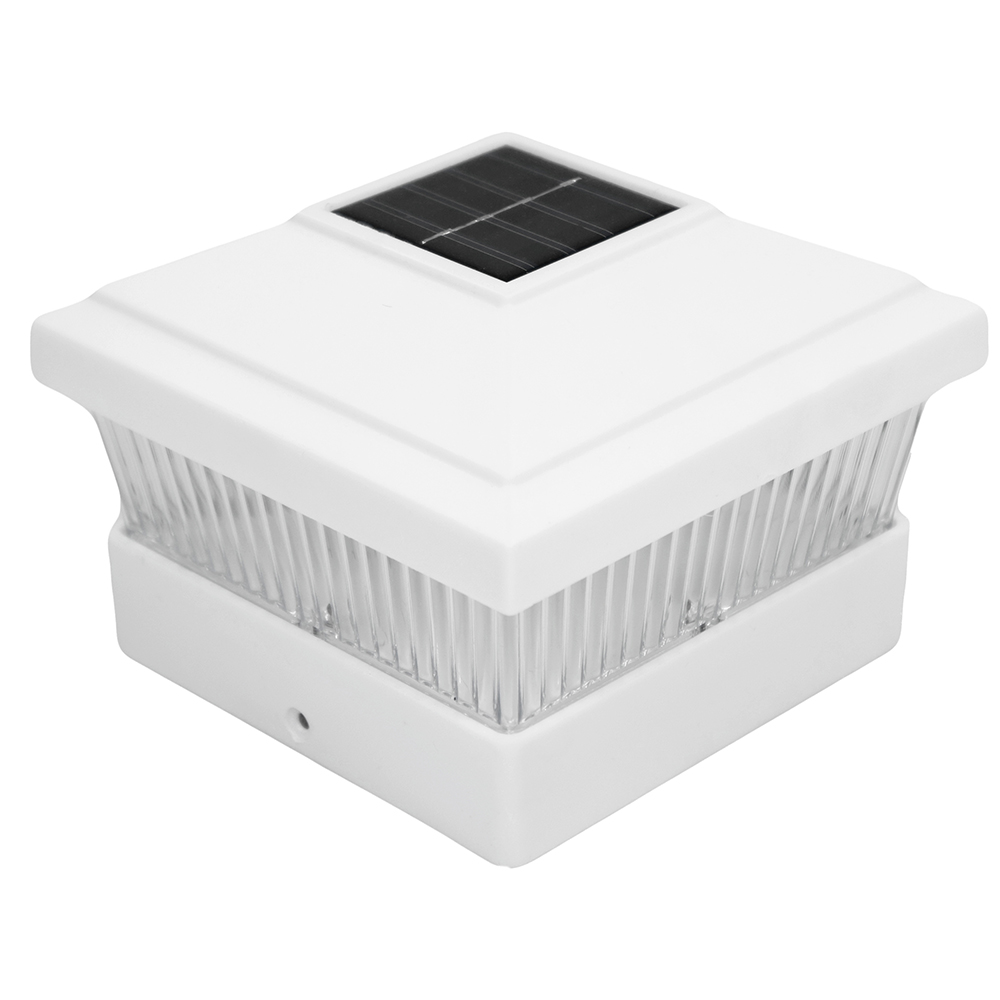 8 white 5 x 5 solar led post light deck cap fence landscape lamp pvc 8 white 5 x 5 solar led post light deck cap fence landscape lamp pvc vinyl wood aloadofball Image collections