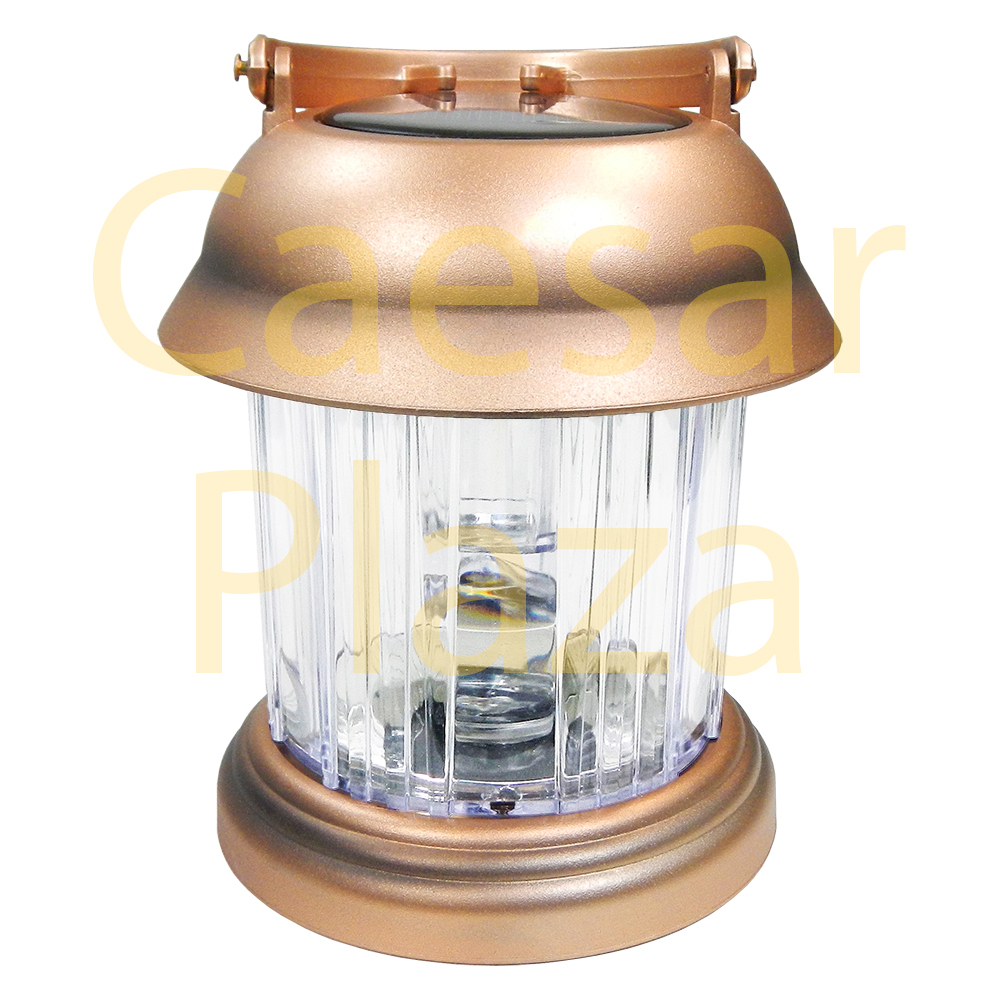 6 Outdoor Brass / Copper Color 2 LED Solar Hanging