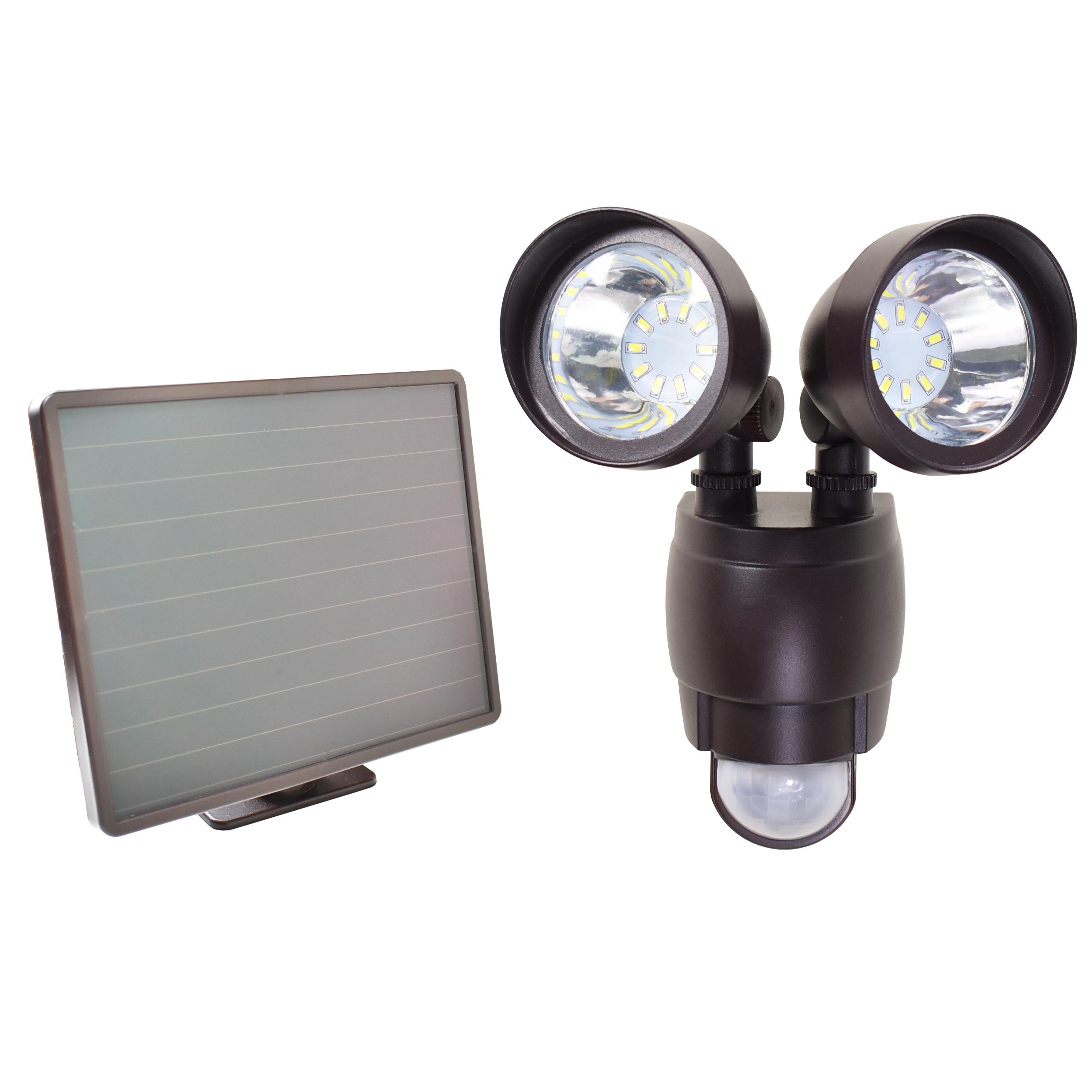 20 Smd Led Dual Security Detector Solar Spot Light Motion Sensor