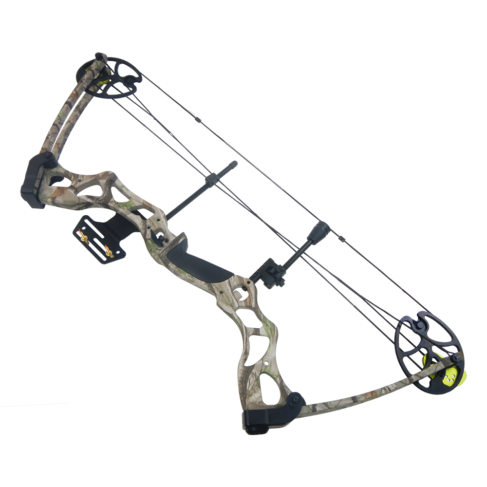 Details about 40-70 lb Black / Green / Tree Camouflage Camo Archery Hunting  Compound Bow 75 55