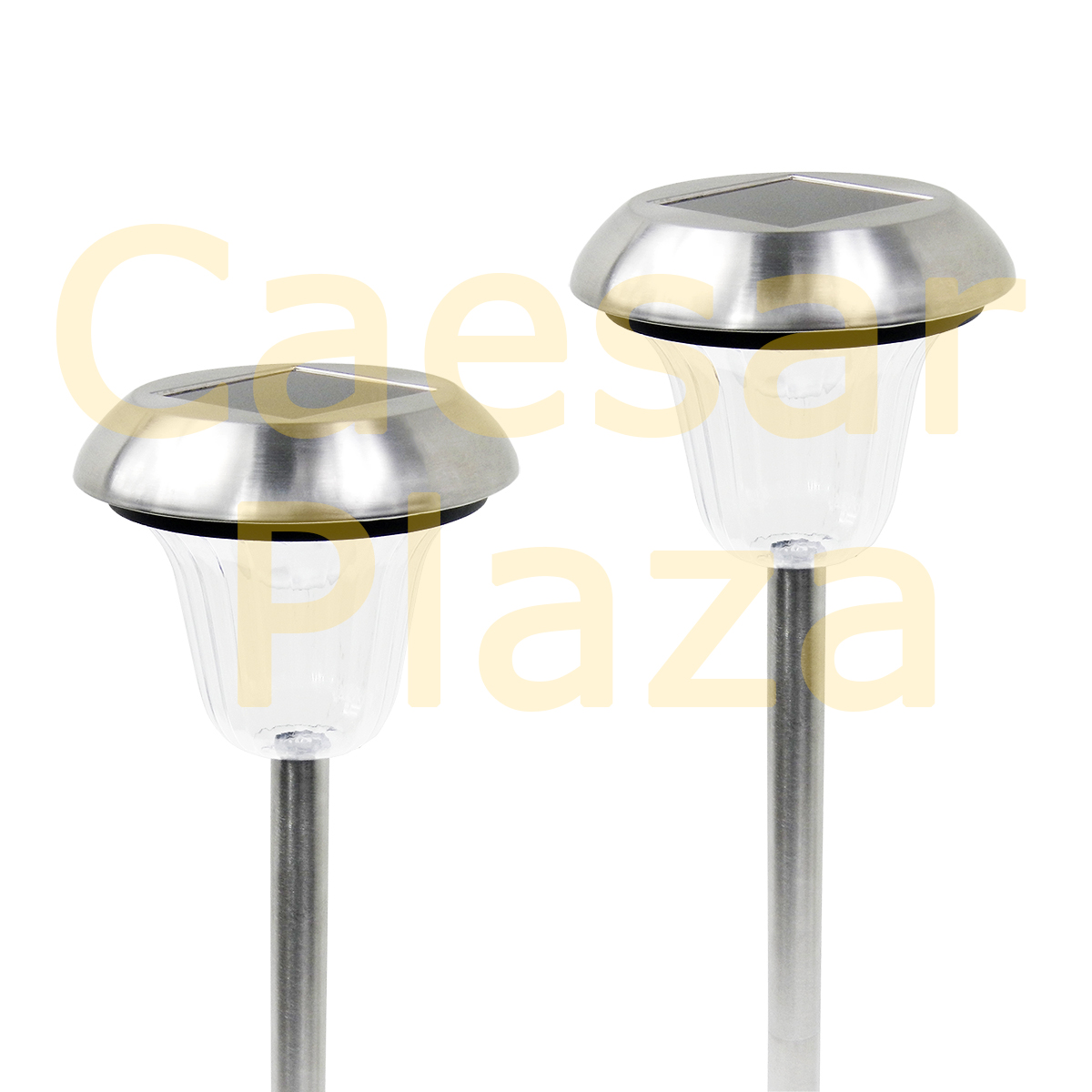 8 Outdoor Stainless Steel Color Changing / White LED Solar