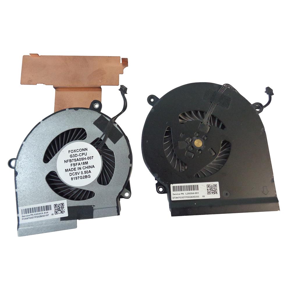 HP Omen 15-dc0004TX HP Omen 15-dc0004ns Power4Laptops Replacement Laptop CPU Fan for HP Omen 15-dc0004np HP Omen 15-dc0004nq HP Omen 15-dc0004nt
