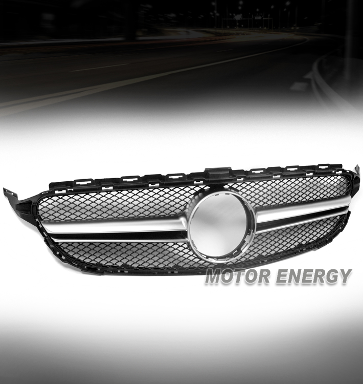 Chrome Auto Front Grill Grille Mesh For Mercedes Benz B: 15-16 MERCEDES-BENZ C-CLASS W205 SPORT MESH FRONT GRILLE