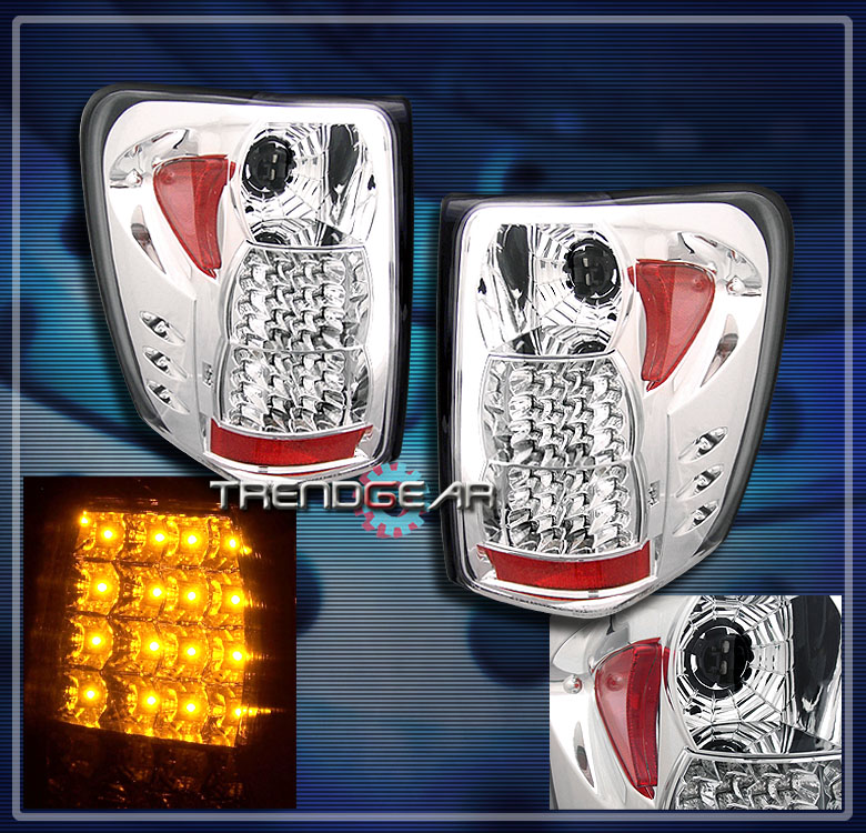 1999 2004 jeep grand cherokee led tail lights lamp chrome. Black Bedroom Furniture Sets. Home Design Ideas