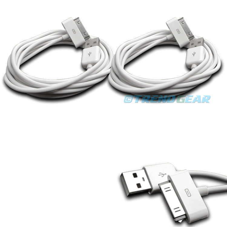 """5X 10FT USB TO 30 PIN WHITE CABLE DATA SYNC CHARGER SAMSUNG GALAXY TAB TABLET 7/"""""""