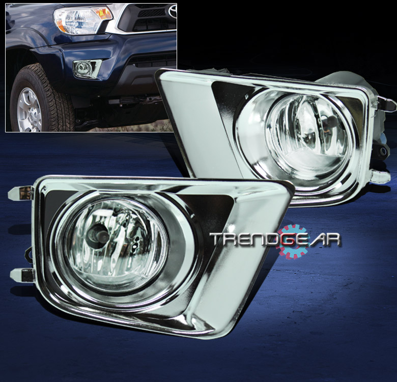 2012-2015 TOYOTA TACOMA PICKUP BUMPER FOG LIGHT LAMP W//BULB+CHROME COVER+HARNESS