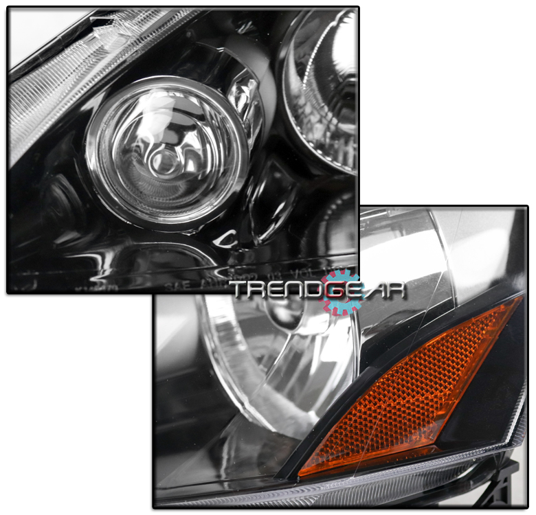 FOR 2005-2006 ACURA RSX DC5 BLACK REPLACEMENT HEADLIGHTS