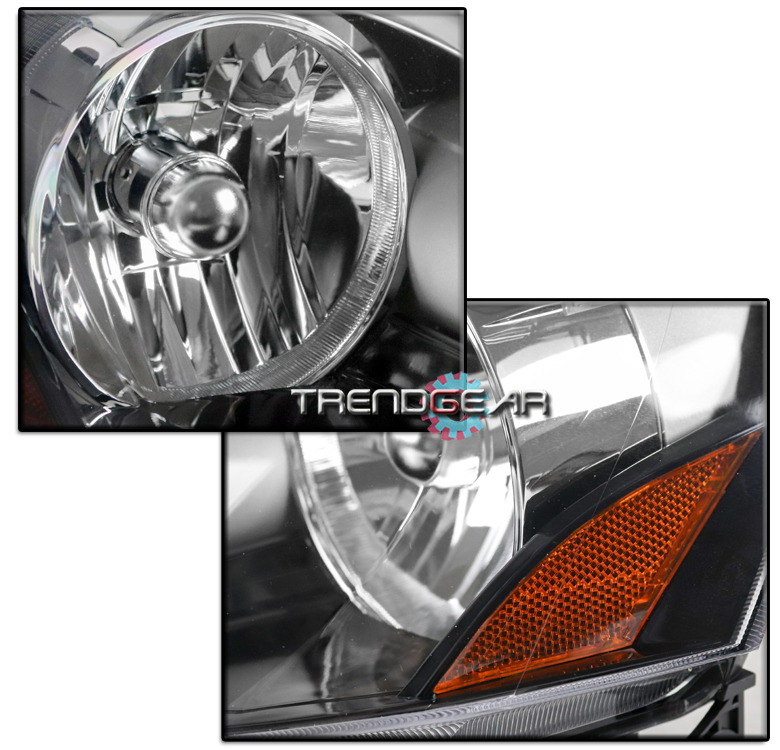 FOR 2005-2006 ACURA RSX DC5 BLACK REPLACEMENT HEADLIGHT W