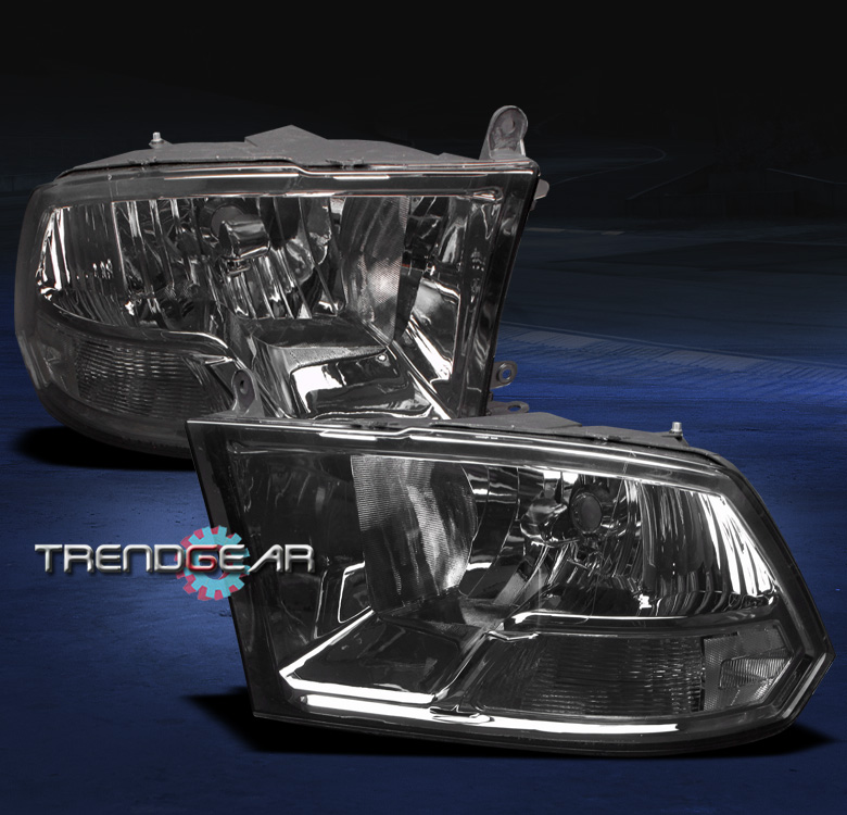 2009 2018 Dodge Ram Pickup Crystal Headlight Lamp Smoke