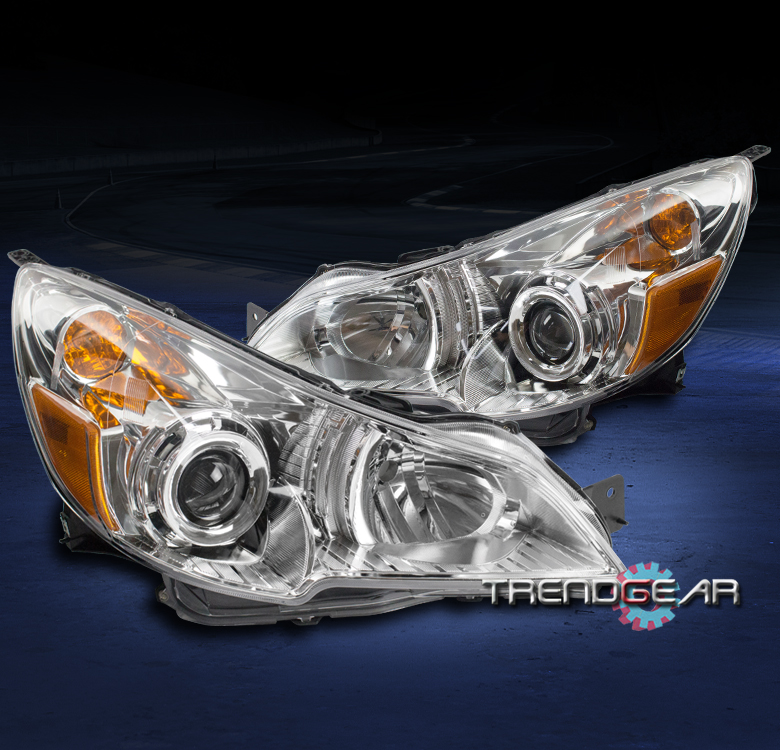 Details About For 2010 2012 Subaru Legacy Outback Replacement Projector Headlights Lamp Chrome