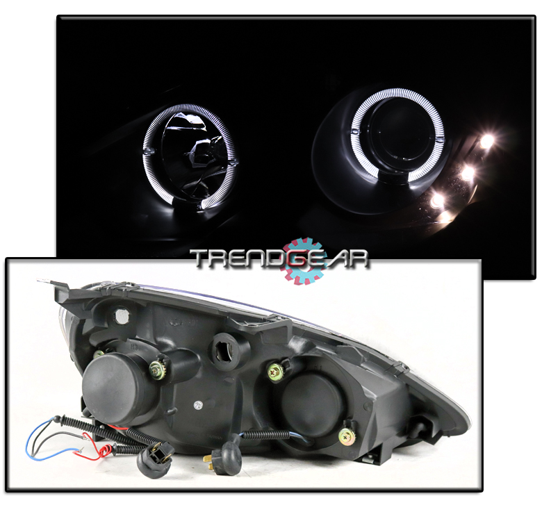 FOR 2002 2003 2004 ACURA RSX DC5 HALO BLACK PROJECTOR