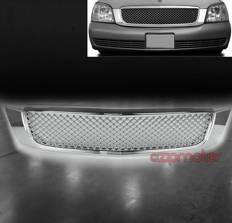 Topline Autopart Black Mesh Front Hood Bumper Grill Grille ABS For 00-05 Cadillac Deville