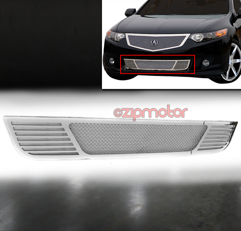 09-10 ACURA TSX FRONT BUMPER LOWER STAINLESS STEEL MESH