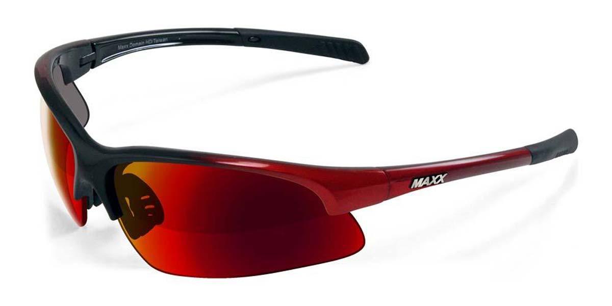 55f9b1ae27 2018 Maxx Sunglasses Domain Black Red with Polarized Red Smoke Lens ...