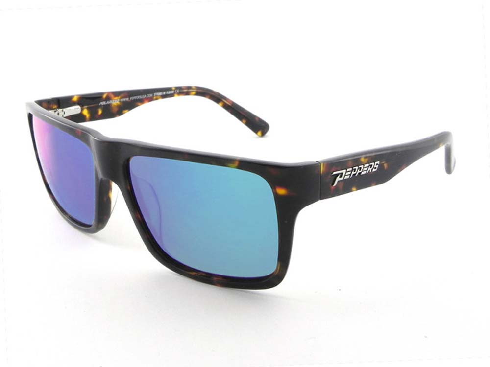 5ab2f3e9a3 Peppers Polarized Sunglasses Kahuna Lp4602-5 Havana Tortoise Blue Mirror.  About this product. Picture 1 of 2  Picture 2 of 2