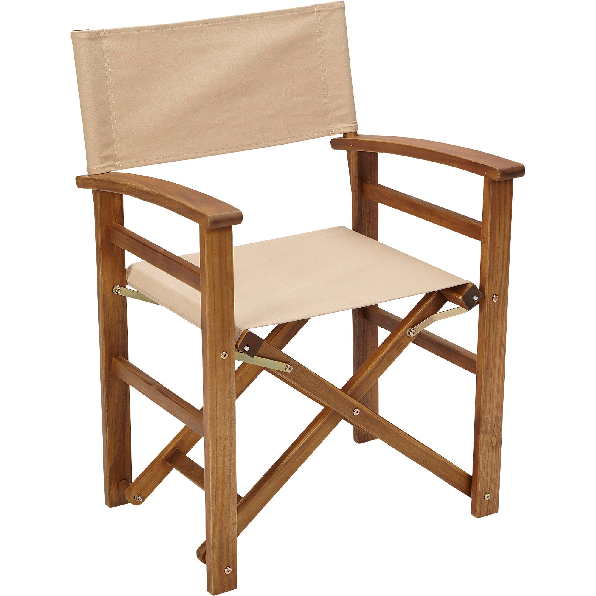 Details about acacia wood frame outdoor portable folding directors chair furniture natural